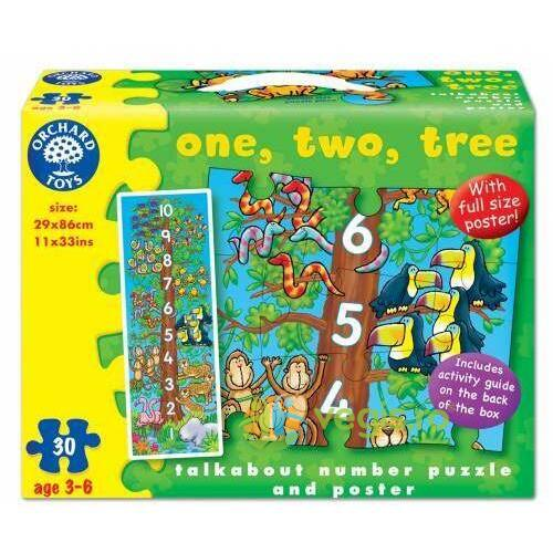 Puzzle de podea: Invatam sa numaram. One Two Three ORCHARD TOYS