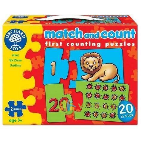 Puzzle: Potriveste si numara de la 1 la 20. Match and Count ORCHARD TOYS