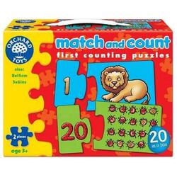 Puzzle: Potriveste si numara de la 1 la 20. Match and Count