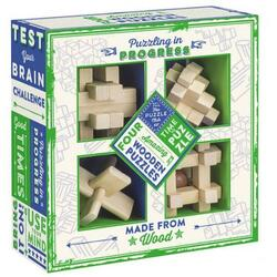 Puzzling in Progress - Set of Four Wooden Puzzles PROFESSOR PUZZLE LTD.