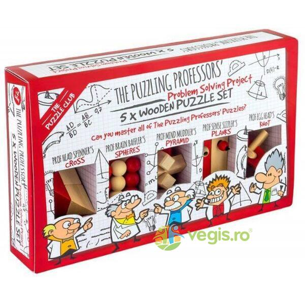 The Puzzle Club - The Puzzling Professors 5 x Wooden Puzzle Set (Puzzle mecanic) PROFESSOR PUZZLE LTD.
