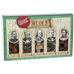 Great minds - Set of 5 men - Puzzle mecanic PROFESSOR PUZZLE LTD.