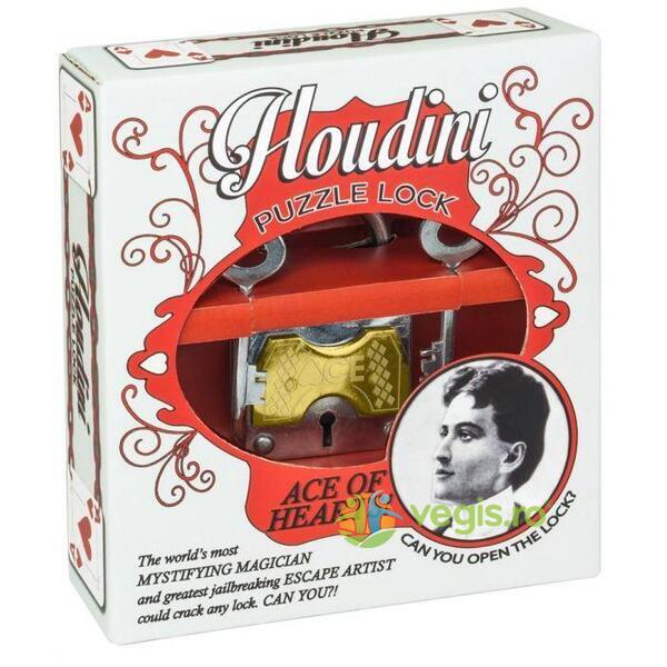 Houdini puzzle lock - Ace of hearts! - Lacatul Houdini PROFESSOR PUZZLE LTD.