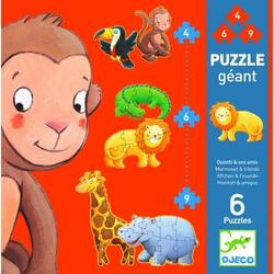Puzzle gigant Djeco - Marmoset and friends