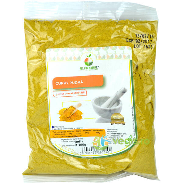 Curry Pudra 100g ALL FOR NATURE