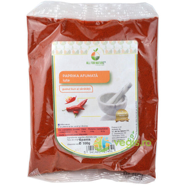 Paprika Afumata Iute 100g ALL FOR NATURE