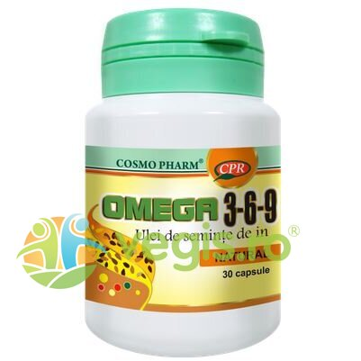 COSMOPHARM Omega 3-6-9 Ulei Seminte In 500mg (Flax Seed Oil) 30cps