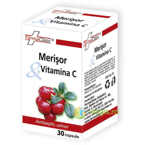 Merisor & Vitamina C 30cps FARMACLASS