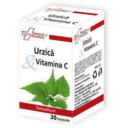 Urzica & Vitamina C 30cps FARMACLASS