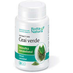 Ceai Verde Extract 30cps ROTTA NATURA