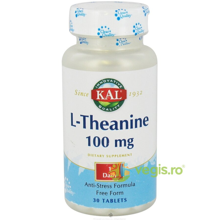 KAL L-THEANINE 100MG 30CPR (L-Teanina)