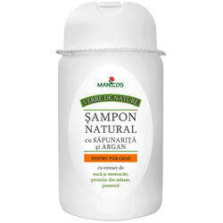Sampon Natural (Cu Sapunarita Si Argan) Par Gras 300ml