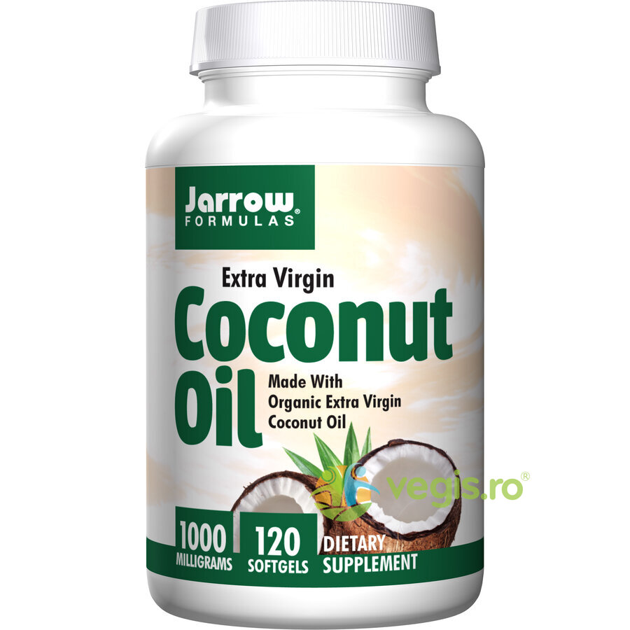 JARROW FORMULAS Coconut Oil Extra Virgin (Ulei de cocos) 1000mg 120cps