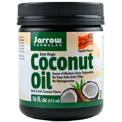 Coconut Oil Extra Virgin (Ulei de cocos) 473ml JARROW FORMULAS