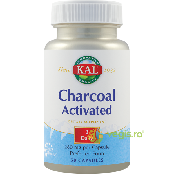 Charcoal Activated (Carbune medicinal activ) 50Cps KAL