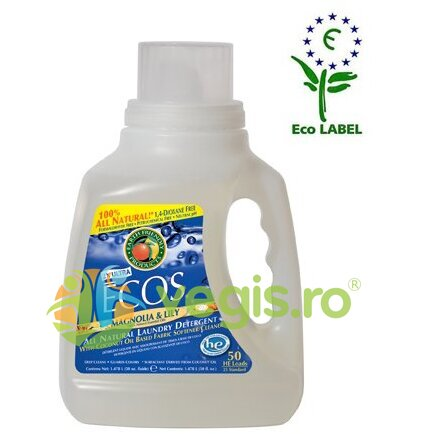 Detergent Lichid Superconcentrat Pentru Rufe (Magnolie Si Lacramioare) 1.5l EARTH FRIENDLY PRODUCTS