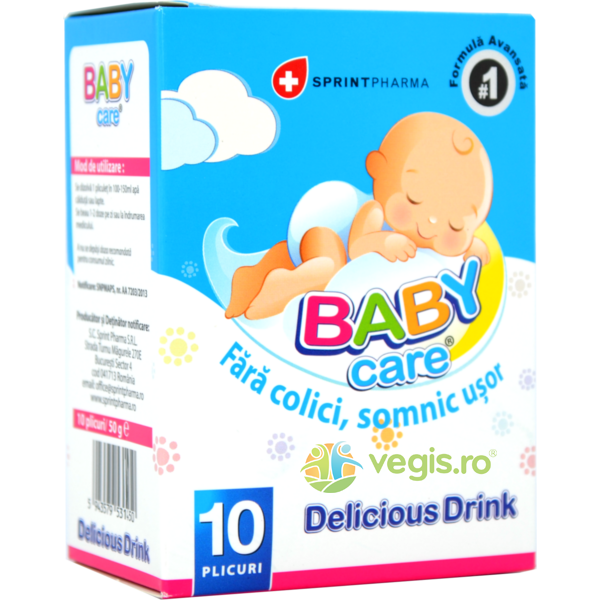 Baby Care Delicious Drink 10 Plicuri SPRINT PHARMA