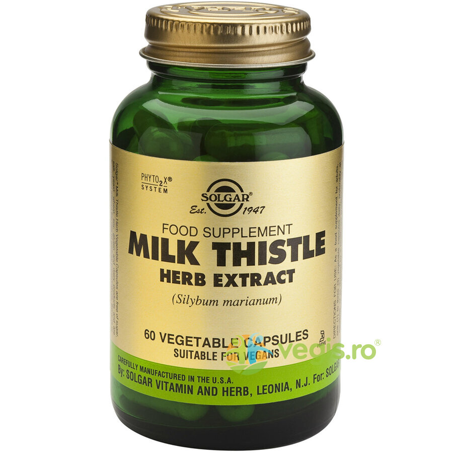 SOLGAR Milk Thistle Herb Extract 60cps (Extract din planta de Silimarina)