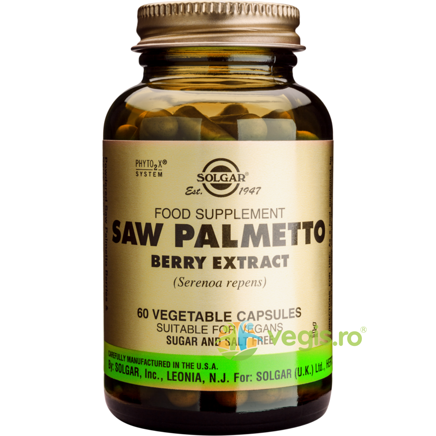 Saw Palmetto Berry Extract 60cps (Palmier pitic) vegis.ro