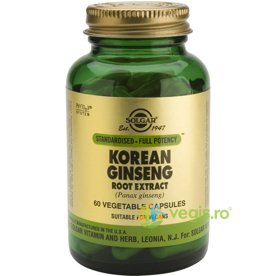 SOLGAR Korean Ginseng Root Extract 60cps(Ginseng coreean)