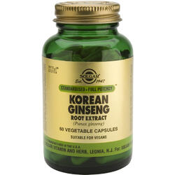Korean Ginseng Root Extract 60cps(Ginseng coreean) SOLGAR