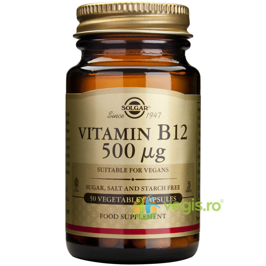 Vitamina B12 500mcg 50cps(Cobalamina) imagine produs 2021