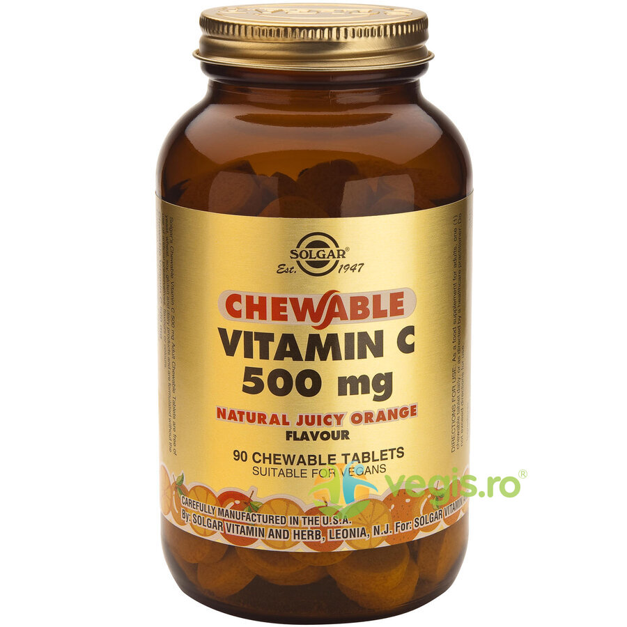 SOLGAR Vitamina C 500mg 90tb Masticabile