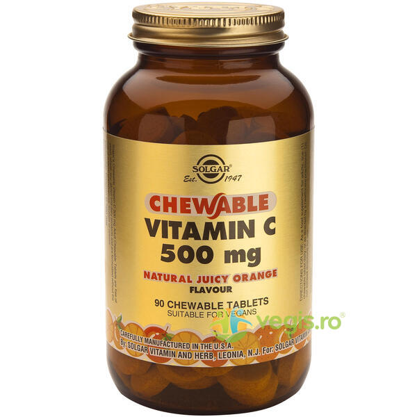Vitamina C 500mg 90tb Masticabile SOLGAR