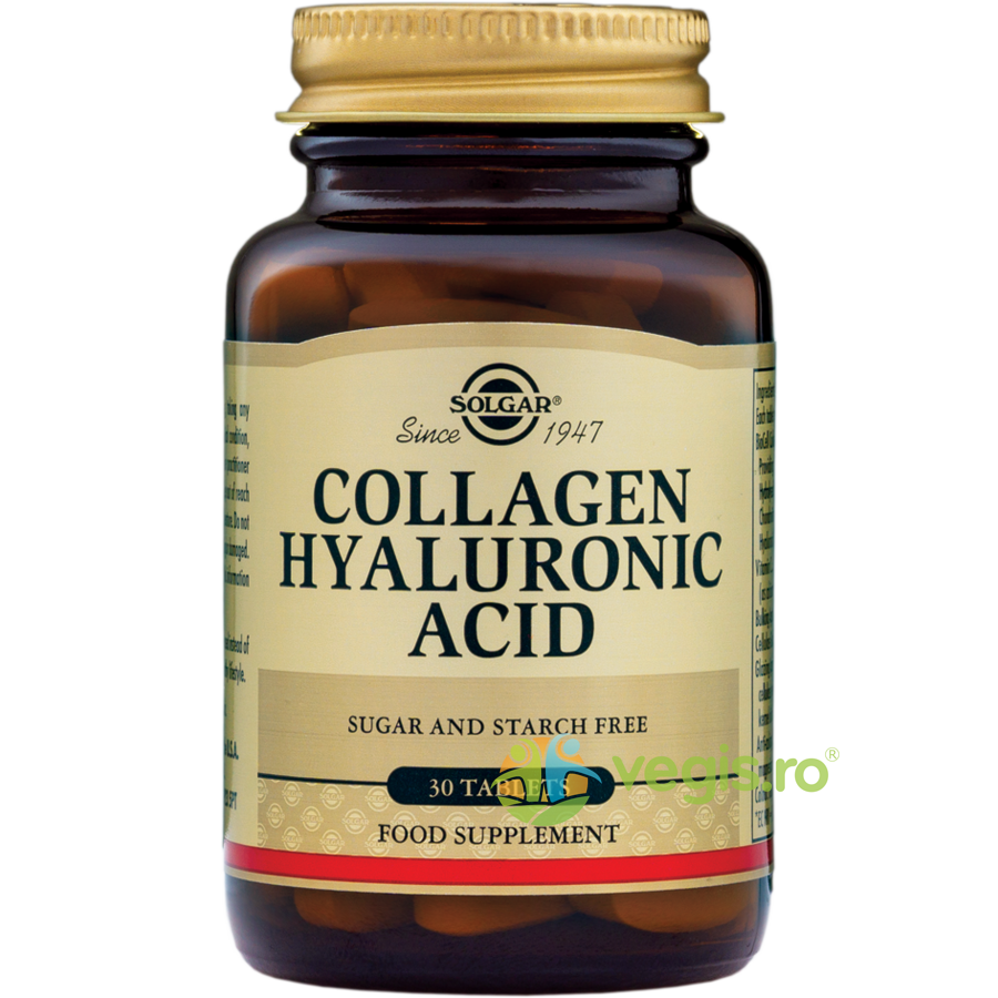 SOLGAR Collagen Hyaluronic Acid 120mg 30tb (Colagen si Acid Hialuronic)