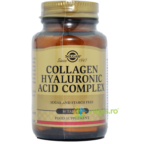 Collagen Hyaluronic Acid 120mg 30tb (Colagen si Acid Hialuronic) SOLGAR