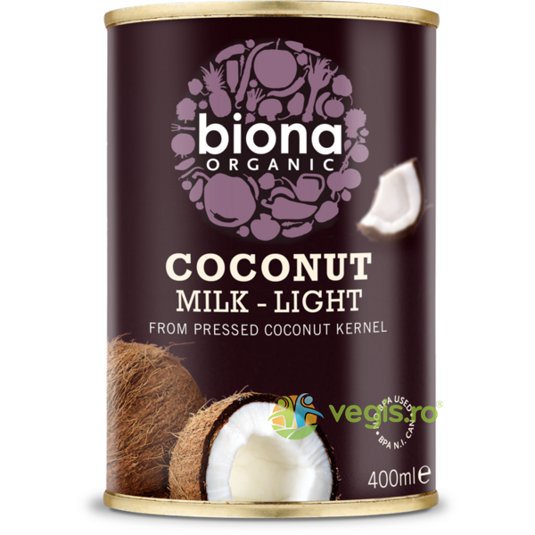 Lapte de Cocos Light Ecologic/BIO 400ml BIONA