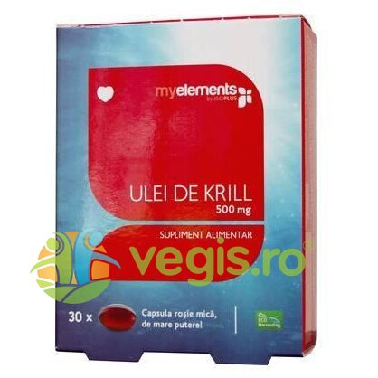 MYELEMENTS Ulei De Krill Omega 3 500mg 30cps