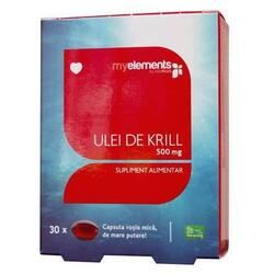 Ulei De Krill Omega 3 500mg 30cps MYELEMENTS