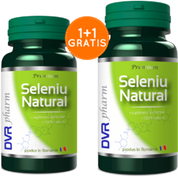 Seleniu Natural 60cps 1+1 Gratis DVR PHARM