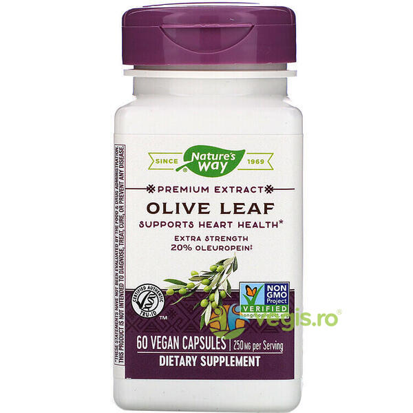 Olive Leaf 60cps 20% Oleuropein NATURE'S  WAY