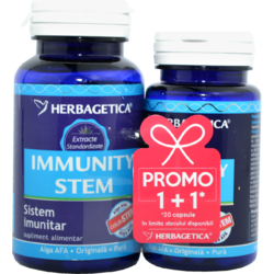 Immunity Stem 60cps+30cps Pachet 1+1 Promo HERBAGETICA