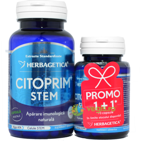 Citoprim Stem 60cps+10cps Pachet 1+1 Promo HERBAGETICA