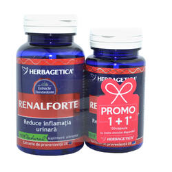 Renal Forte 60cps+30cps Pachet 1+1 Promo HERBAGETICA