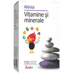 Vitamine si Minerale Junior 30cpr masticabile ALEVIA