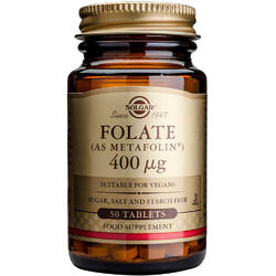 Folate 400ug 50tb (ca Metafolin) SOLGAR