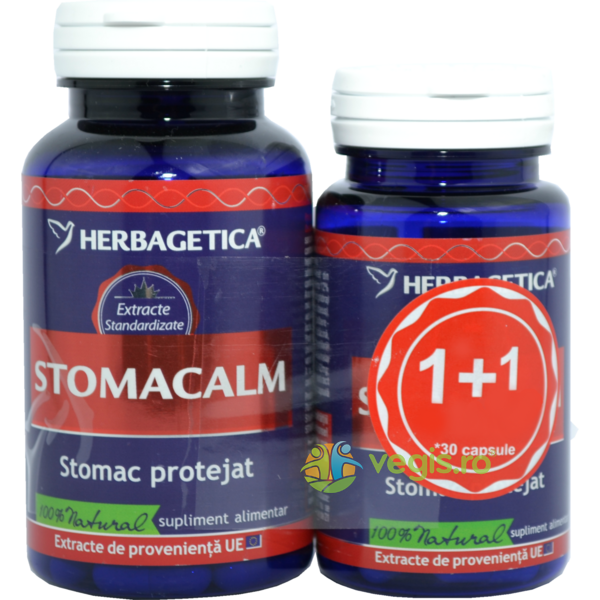 Stomacalm 60Cps+30Cps Pachet 1+1 Promo HERBAGETICA
