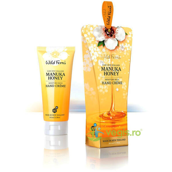 Manuka Honey - Crema de Maini Intensiv Hidratanta cu Miere de Manuka 100ml WILD FERNS