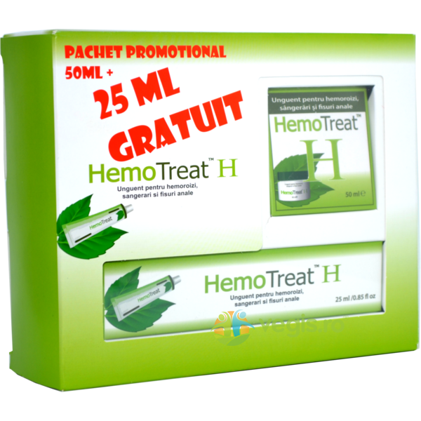 HemoTreat H Unguent Hemoroizi 50ml+25ml Gratuit GLOBAL TREAT