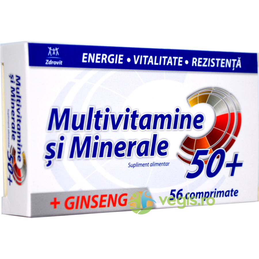 ZDROVIT Multivitamine si Minerale + Ginseng 50+ 56cpr