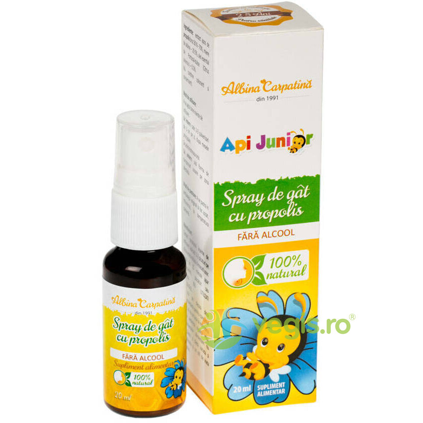 ALBINA CARPATINA Api Junior Spray de Gat cu Propolis fara Alcool 20ml