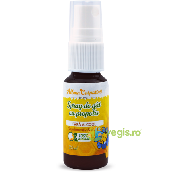 Api Junior Spray de Gat cu Propolis fara Alcool 20ml ALBINA CARPATINA