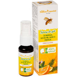Spray de Gat cu Propolis, Pin, Salvie si Portocal fara Alcool 20ml