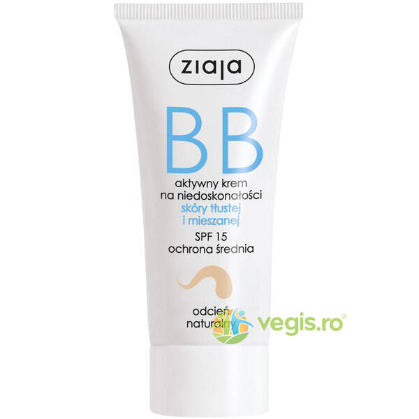 BB Cream Pentru Ten Gras Si Mixt SPF 15 - Natural 50ml ZIAJA
