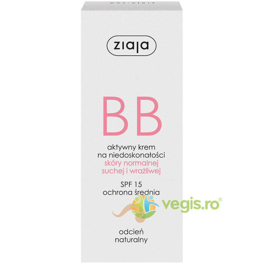 ZIAJA BB Cream Pentru Ten Normal, Uscat Si Sensibil SPF 15 – Natural 50ml