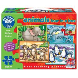 Animals Four in a Box - Set 4 puzzle. Animale ORCHARD TOYS